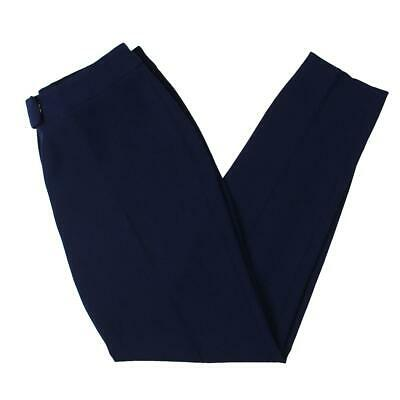 Anne Klein Womens Navy Slim Fit Mid-Rise Work Wear Trouser Pants 16 BHFO 7209
