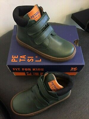Petasil Emerson in Forest Green Leather Ankle Boot