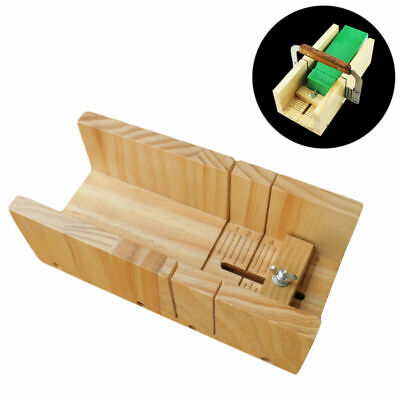Adjustable Cutter Loaf Soap Mould Melt Silicone Mold Cake Making Wooden Box DIY