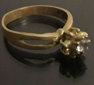 Roman Ring Ancient Bronze Wedding Antique Unique Rare Artifact Stunning Stone