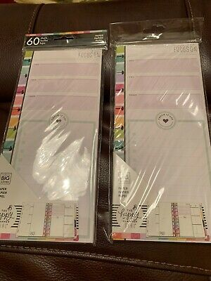 The Happy Planner Paper 2 Sets By 60 Each Focus On  New