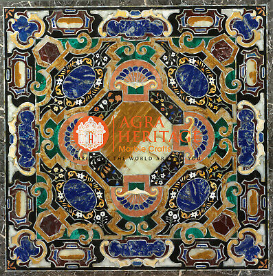 Marble Coffee End Table Top Pietra Dura Inlay Marquetry Cyber Monday Decor H2450