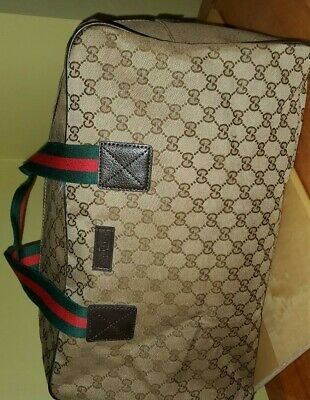 Gucci Gg Supreme Canvas With Web Duffle Bag Vtg