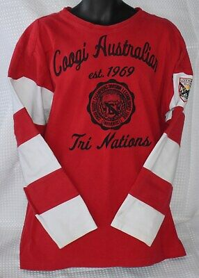 Authentic COOGI Red & White RUGBY SHIRT Sweater BIG XXL Free Shipping