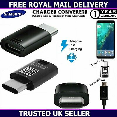 Genuine Type C To Micro USB Charger Converter For Samsung Galaxy S20 S10 S9 Plus