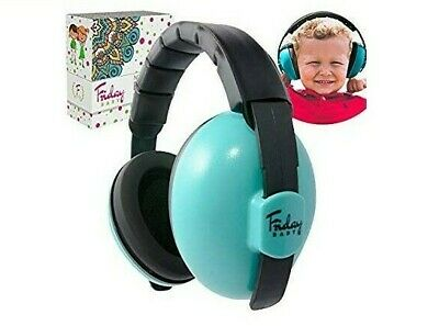 *NEW* Friday Baby Ear Protection Adjustable Noise Cancelling Earmuffs Blue/Black