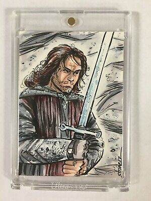 LORD OF THE RINGS Artist Sketch Card Aragorn