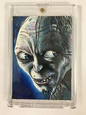LORD OF THE RINGS Artist Sketch Card Gollum May 2008