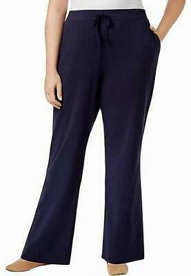 Karen Scott Women's Pants Blue Size 1X Plus Sport Drawstring Stretch #454
