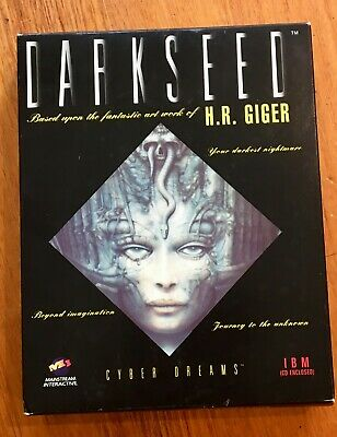 Darkseed Cyber Dreams CD ROM computer game, H.R Giger