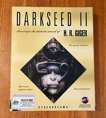 Darkseed Cyber Dreams II CD ROM computer game, H.R Giger