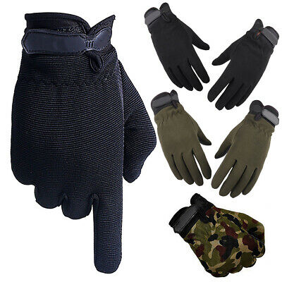 Mens Full Finger Tactical Gloves Outdoor Waterproof Sports Motor Cycling Gloves