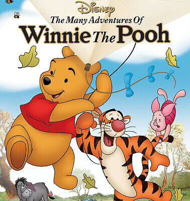 BN The Many Adventures of Winnie the Pooh DVD ONLY Disney Classic Animated 1977