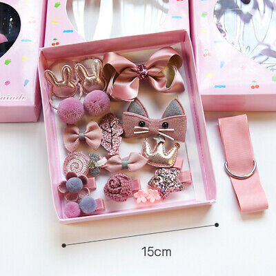 18PCS BABY GIRL Bow Knot Hair Clips Cute Flower Barrette Hairpins ...