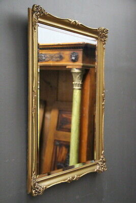 Vintage French Louis XV mirror gilt carved frame antique ornate scrollwork 1920s