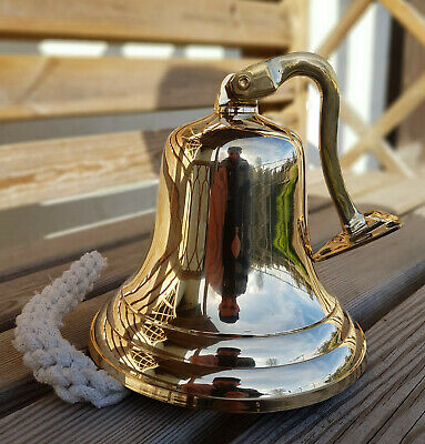 """6"""" Last orders wall mounted Brass door bell ~ Ship hanging bell ~ Pub Bell"""