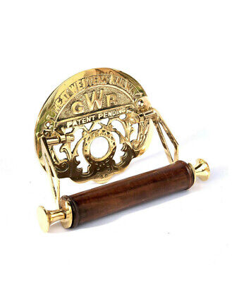 GWR Toilet Roll Holder Brass Old Novelty Retro Victorian Shabby