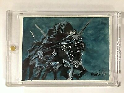 Lord of the Rings Wraith Sketch Art Card Signed Tony