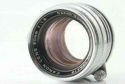 [EXC+4] Canon 50mm f/1.8 Leica Screw Mount LTM L39 Chrome Silver from Japan #136
