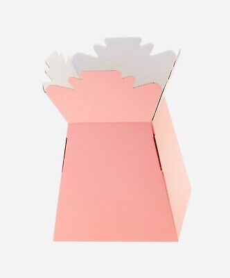 10x Pale Pink Living Vase Florist Bouquet Box Sweet Hamper Mother's Day