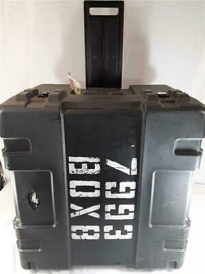 SKB Large Military Standard Equipment Traveling Case With Wheels Black Box
