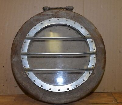 Antique port hole brass ship hatch nautical display collectible Chris Craft 1271