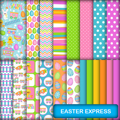 EASTER EXPRESS SCRAPBOOK PAPER - 20 x A4 pages