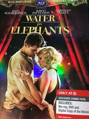 NEW / SEALED Water For Elephants Blu Ray/DVD Target Combo (No Digital) + slipcov