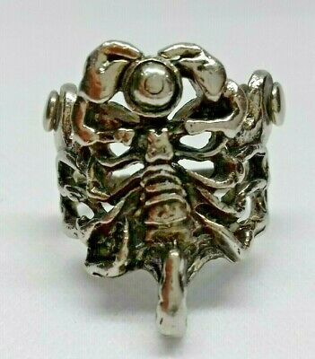 Ancient Rare Roman Silver Scorpion Ring Musueum Quality Artifact