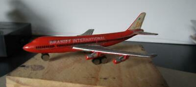 "Braniff International Airline Boeing  747 Diecast by Dyna  Flites 4"" Long"