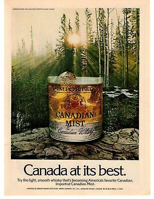 1975 Canadian Mist Whisky Goldstream Park Vancouver Island B.C. Canada Print Ad