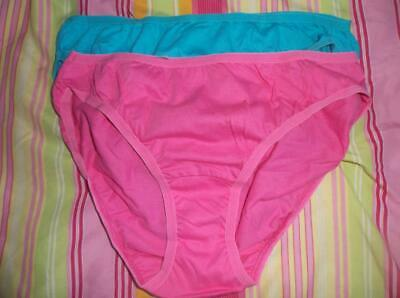 Women's Vtg Style Panties Briefs Fruit Of The Loom Lot Of 2 Pairs Sissy Size 6