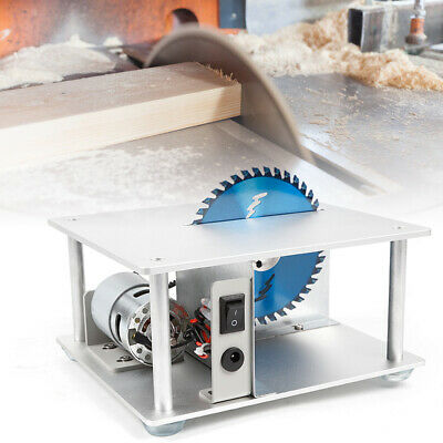 Mini Table Bench Saw+power adapter Handmade Woodworking Bench Lathe Electric US