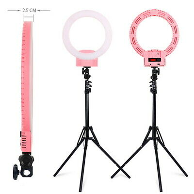 "Kshioe 12"" Dimmable LED Ring Light Kit with Stand 6000k Camera Photo Video3600LM"