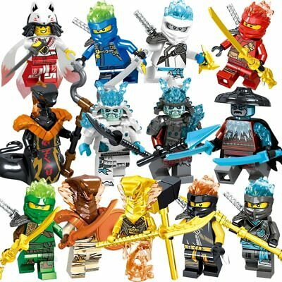 13 PCS Ninjago Mini Figures Toy Jay Kai Cole Lloyd Nya Zane Snake Figure Gifts