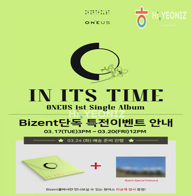 [PRE-ORDER]ONEUS IN ITS TIME 1st Single Album With Bizent Official Gift+Tracking