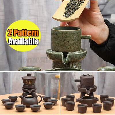 11PCS Semi-automatic Purple Clay Chinese Kung Fu Tea Set Creative Pitcher