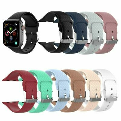 Sport Silicone Band Wrist Strap Bracelet for Apple Watch iWatch 2 3 4 38mm/42mm