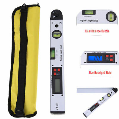 0°~225° Electronic LCD Digital Angle Finder 400mm Protractor Ruler Goniometer