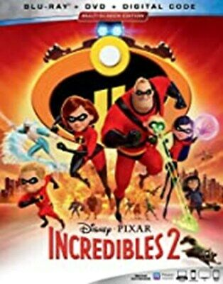 INCREDIBLES 2 (Blu-ray/DVD, 2018, 3-Disc Set Includes Digital Copy) New / Sealed