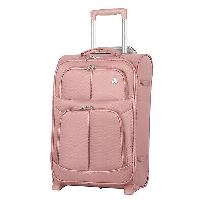 Aerolite Maximum Allowance Durable Airline Approved Carryon Suitcase, Rose Gold