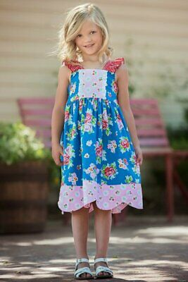 NWT Persnickety Girl/'s Bushel /& a Peck Maria Blue Multi Floral Dress sz 2T