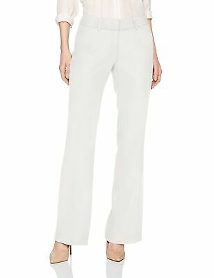 Ivanka Trump Women's Dress Pants White Size 16X33 Flat Front Crepe Leg $89 #608