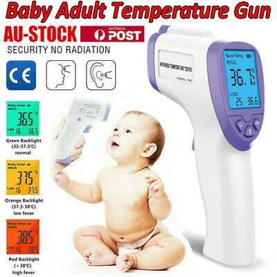 Baby Adult Non-Contact Forehead LCD IR Infrared Digital Thermometer Measurement