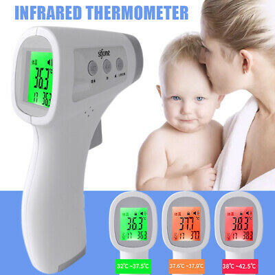 IR Infrared Digital Forehead Fever Thermometer Non-Contact Baby / Adult Body UK!