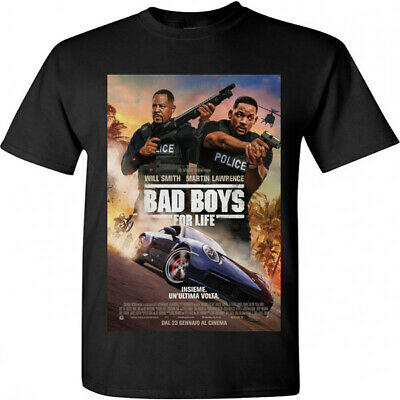 Bad Boys For Life Will Smith Action Movie Poster 2020 T-shirt Size S M L XL 2XL