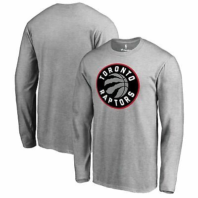 Toronto Raptors Fanatics Branded Primary Logo Long Sleeve T-Shirt - Heather Gray