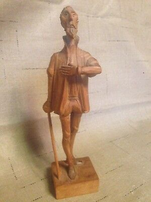 Ouro Artisania Spain, Hand Carved Wooden Don Quixote Sculpture #580-0