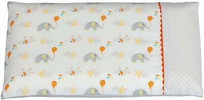 ClevaMama Replacement Pram Pillow Case Elephant
