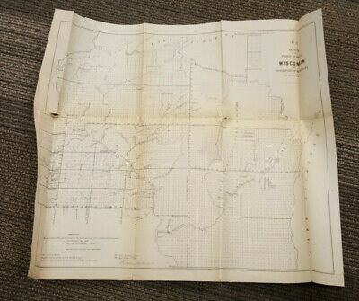 1856 Map Sketch Public Surveys in Wisconsin and Territory of Minnesota